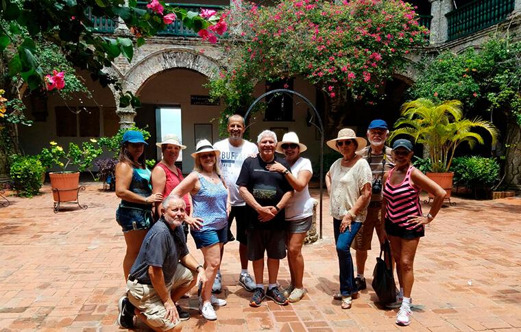 Happy people in Cartegena
