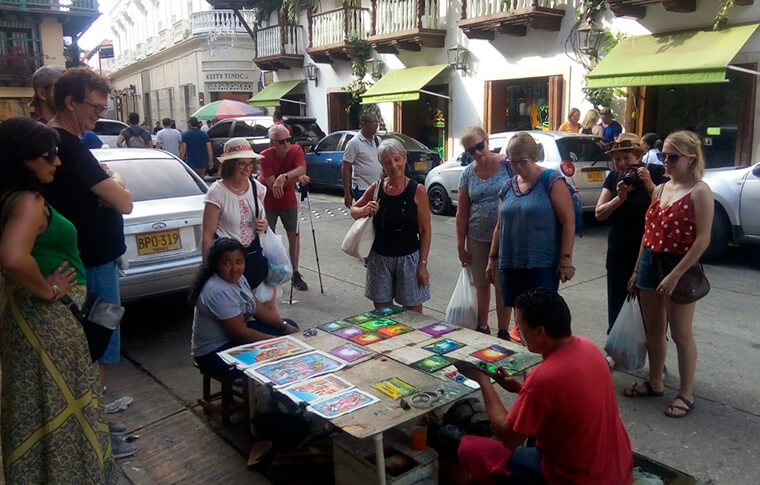 people in Cartagena Colombia